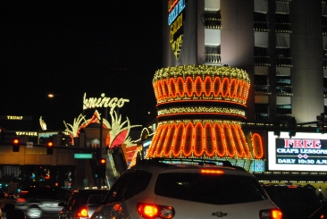 Street lights on The Strip