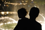 Silhouettes at The Grove fountains