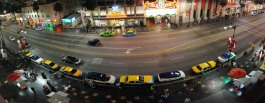 Walk of Fame street panorama from above