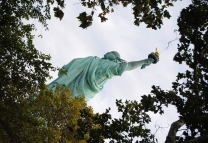 Close encounter with Statue of Liberty